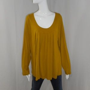 ~Lane Bryant~Mustard Yellow Oversized Blouse 18/20